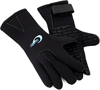 3mm Neoprene Unisex Adults Kids Swimming Diving Surfing Warm Waterproof Five Finger Gloves Wetsuit XXXS-XL Black