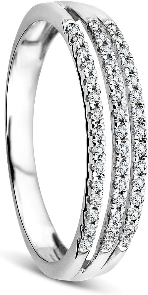 Orovi anello donna in oro bianco con diamanti OR81060R56