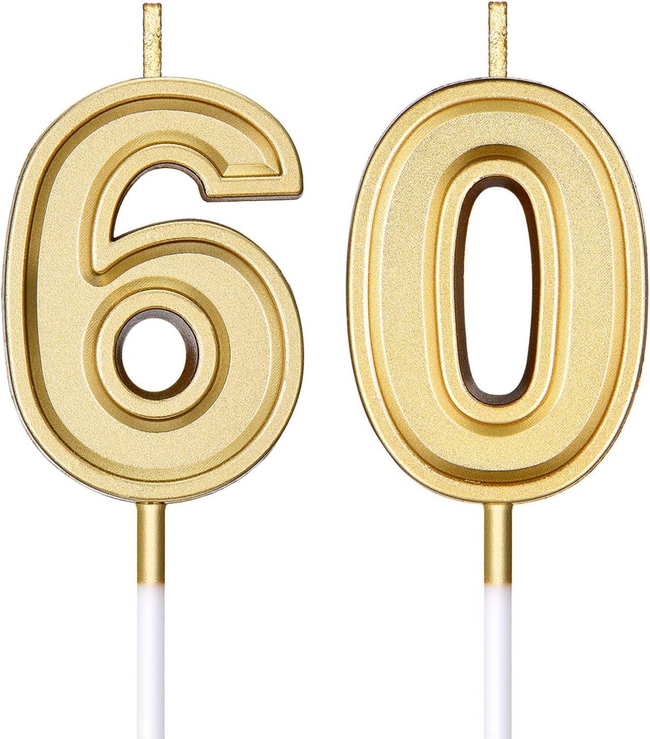 60th Birthday Candles Courier shipping free shipping Cake Happy Numeral Max 62% OFF C