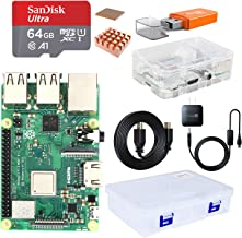 Raspberry Pi 3 B+, Complete Starter Kit with Motherboard, 64 GB Micro SD Card with NOOBS pre-loaded, 5V 3A Power Adapter, HDMI Cable, Micro SD Card Reader, and Big Transparent Box