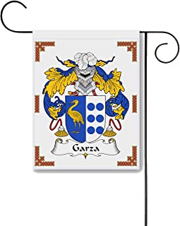 Carpe Diem Designs Garza Coat of Arms/Garza Family Crest 11 X 15 Garden Flag – Made in The U.S.A.
