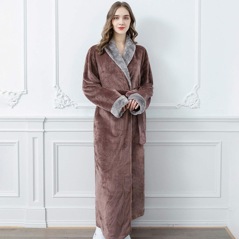 Mltdh Night Ranking TOP16 Dress Women Men Bathrobe Long Flannel Robe Soldering Female Sl