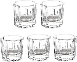 5 Pieces Nail Dappen Dish Glass Cup Dapping Dish Nail Crystal Bowl for Acrylic Liquid and Powder