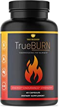 True Recovery TrueBURN Thermogenic Fat Burner & Appetite Suppressant Weight Loss Supplement with Yohimbe Bark, Green Tea E...