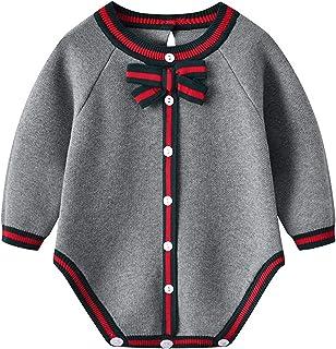 طفل بنين بنات داخلية ملابس للجنسين الوليد دافئ محبوك نيسيي طويلة الأكمام طفل أطفال بذلة (Color : ANF092901, Size : 6M)