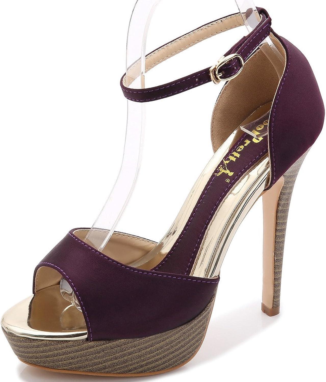 YooPrettyz Women's Peep Toe High-Heel Dress shoes Ankle Strap Prom shoes Wedding Platform Pumps
