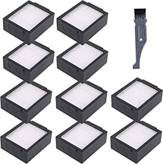I clean i7 Roomba Replacement Parts,10pcs Filters for iRobot Roomba E6 6198, i7 (7150), i7+ (7550), E5 Robot Vacuum- Wi-Fi Connected Vacuum Cleaners