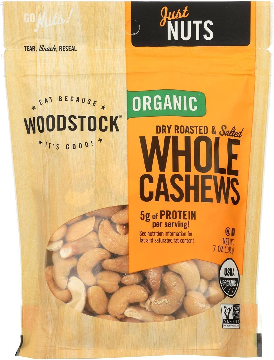 Factory outlet Woodstock Nuts - Attention brand Organic Cashews Dry Roasted Whole Large