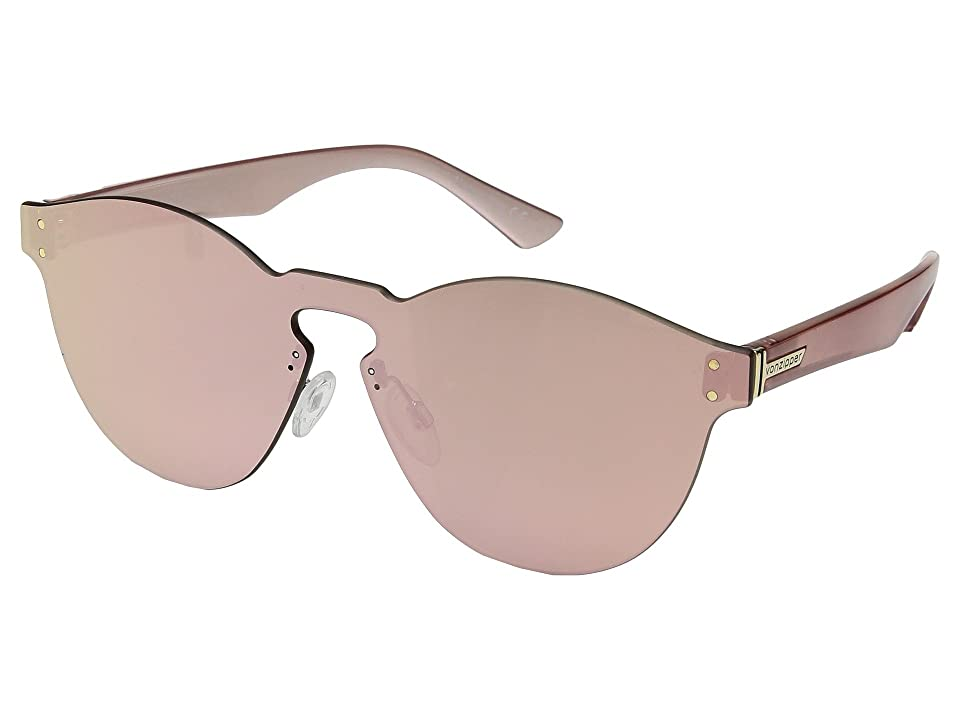 VonZipper Alt-Ditty (Rose Gold/Rose Gold Chrome) Athletic Performance Sport Sunglasses