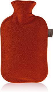 Fashy 6530 - Bolsa de agua caliente con funda de fieltro, 2 L, color rojo