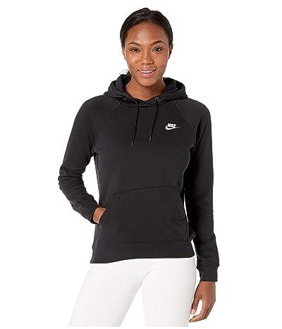 Nike NSW Essential Hoodie Pullover Fleece (Black/White) Women