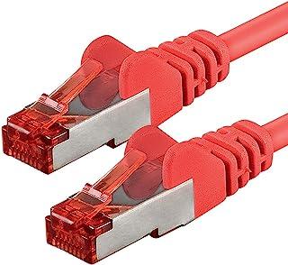 1aTTack 7682868 30m CAT6 nätverkskabel CAT.6 patchkabel Ethernet-kabel SFTP PIMF 1000 Mbit s 1 st röd
