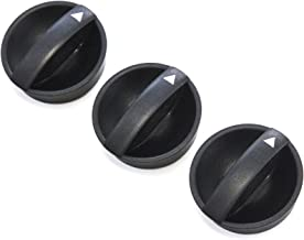 3 Control Knobs Fan Heater AC 2005-11 Compatible with Toyota Tacoma Temperature Black (Orange Indicator)