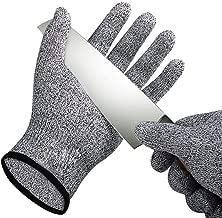 FZTEY Guanti Resistenti al Taglio da Usare per Cucina e Macellaio Medium Coltello antitaglio Guanti da Lavoro in Acciaio Inox 304