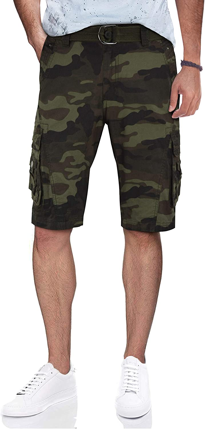 X RAY Mens Tactical Bermuda Don't miss the campaign Cargo and 1 Solid Colors Fees free Camo Shorts