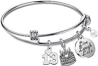 13th birthday charm bracelet