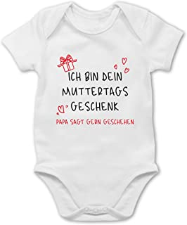 Shirtracer Ich bin dein Muttertagsgeschenk schwarz - Baby Body Kurzarm für Jungen und Mädchen