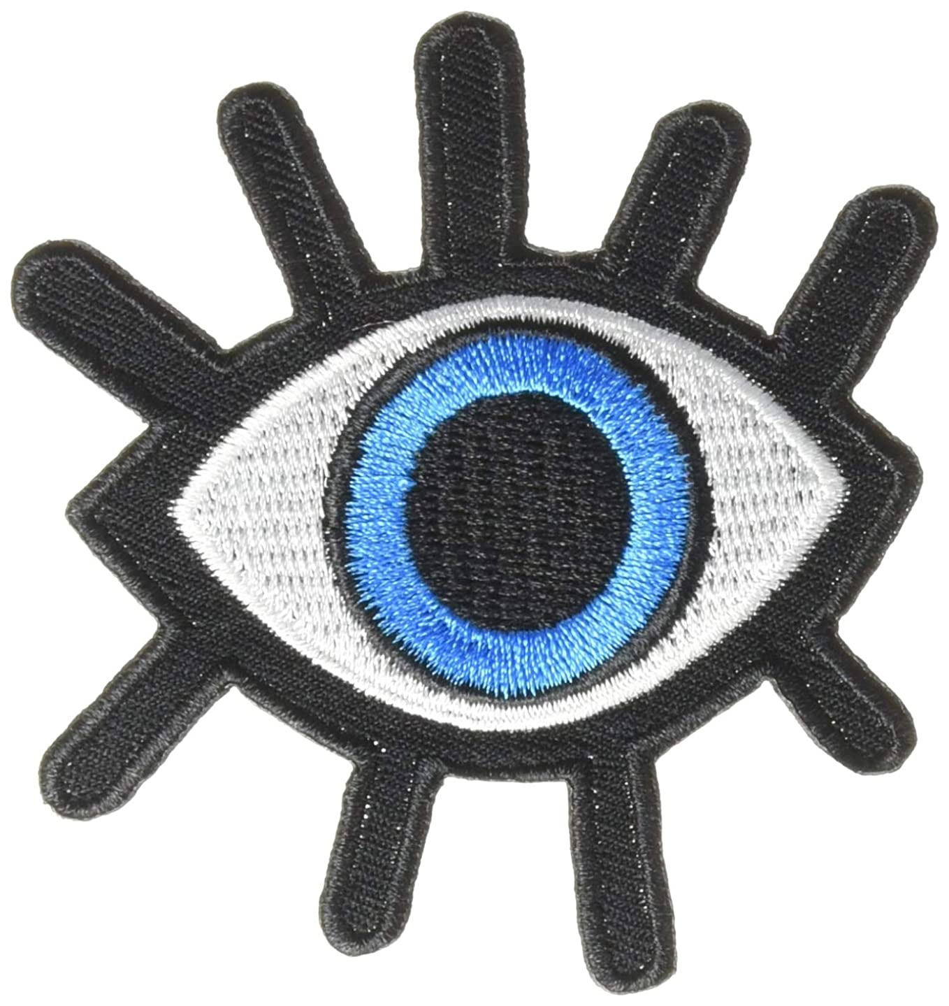 Pack of 2 Eye eyeball tattoo wicca occult goth punk retro applique iron-on patch