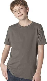 Next Level Boys Cotton Crew - Warm Gray - S - (Style # 3310 - Original Label)