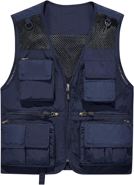 llddrz Fishing Vest Mens Gilet Fees free!! Cl Columbus Mall Waistcoat Outdoor