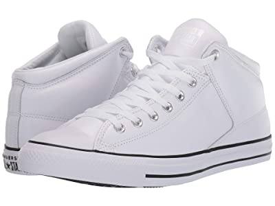 Converse Chuck Taylor(r) All Star(r) Hi Street Leather (White/Black/White) Classic Shoes