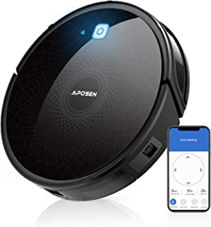 APOSEN Robot Vacuum, 1800PA Robotic Vacuum Cleaner(Slim), 110Mins Max Run Time,Automatic Self-Charging, Quiet Multiple Cle...