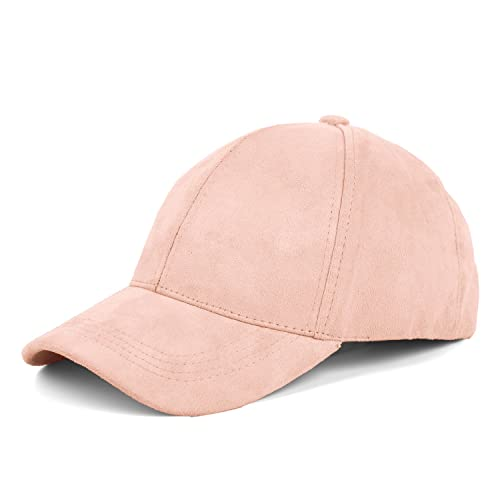 04f281aa JOOWEN Unisex Faux Suede Baseball Cap Adjustable Plain Dad Hat for Women Men