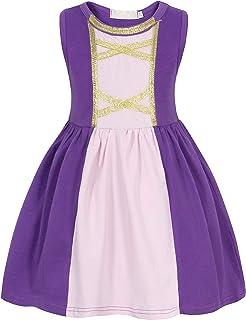 زي تنكري بتصميم ثوب الاميرة من جوربيسيا للبنات، تلبيس الفتيات لحفلات الهالوين واعياد الميلاد والحفلات لعمر 1 - 12 سنة