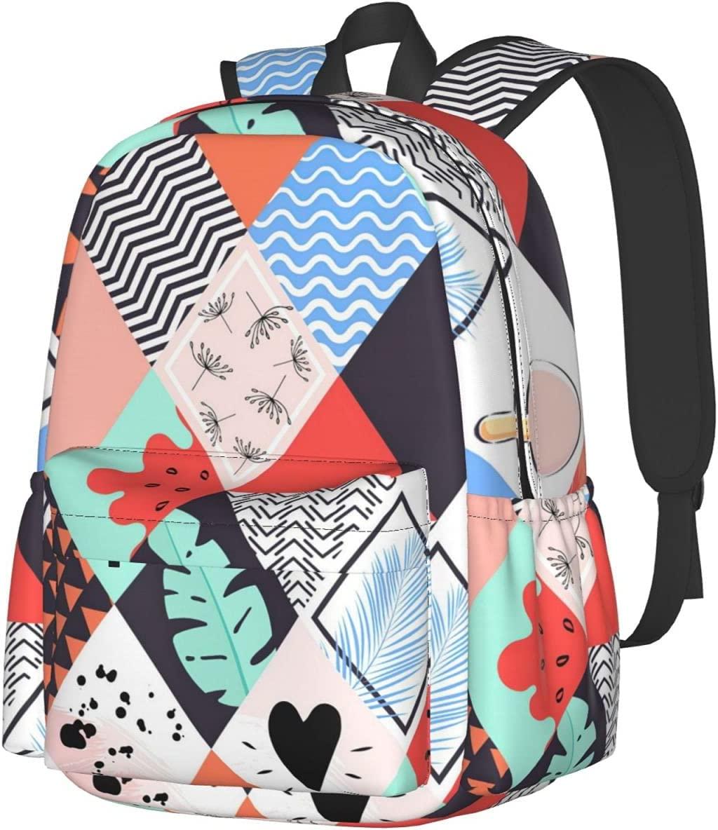Diamond Super intense SALE Tropical Leaves Ice Cream Fashion Backpack Ranking TOP14 Casual Multip