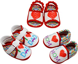 KazarMax Anti-Skid Breathable Soft & Comfortable Love Printed Born Baby Winter Unisex Pack of 3 Booties Gift Set - TOOTSIES/Shoes