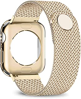 jwacct Compatible for Apple Watch Band with Screen Protector 38mm 40mm 42mm 44mm, Soft..