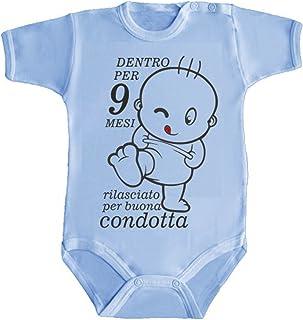 ultima collezione prezzo di fabbrica gamma completa di articoli Amazon.it: body neonato divertenti: Abbigliamento