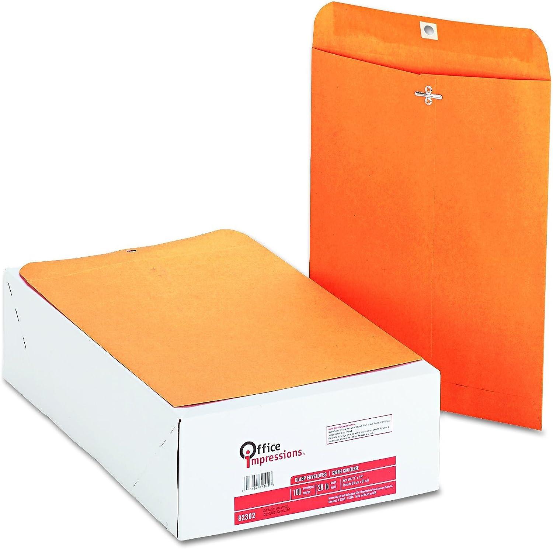 Office Impressions Kraft Clasp Envelopes, 9 X 12 Inches, 28 Lb, Light braun, 100 per Box (82302) by Office Impressions B001W0Y5US | Angenehmes Gefühl