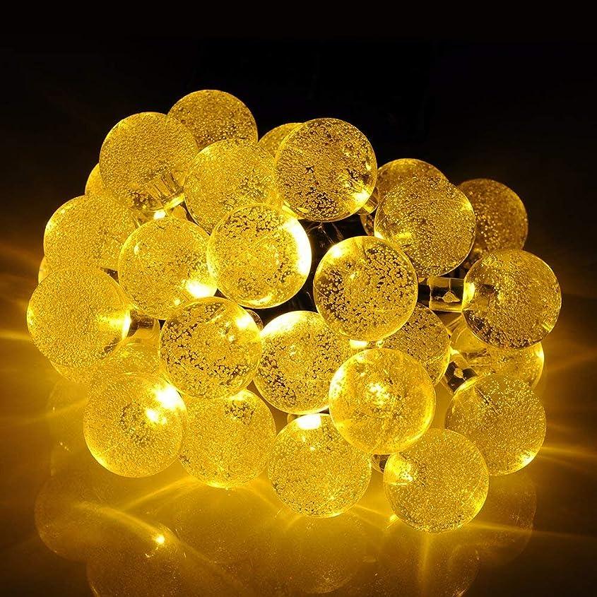 行方不明直面するきらきら【ノーブランド】ソーラー充電イルミネーションLED 30球 黄色