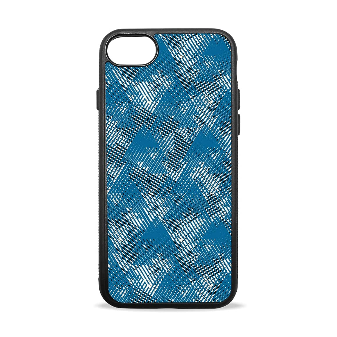 Blue Colorful Graffiti Style iPhone 8/8 Plus case, iPhone 7/7 Plus Case, Slim-Fit Matte TPU Clear Bumper Flexible Rubber Silicone Rugged Thin Protective Phone Case Cover