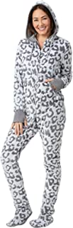 Fleece Onesies for Women - Hoodie Footie Pajamas Adult, Zip Front