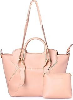 Shining Star Women's Handbag With Sling Bag & Clutch (Set of 2)