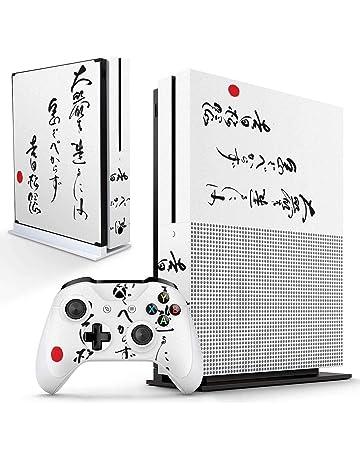 Xbox One S Skin Design Foils Sticker Screen Protector Set Video Game Accessories Blue Skull Motif