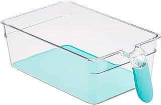 Amazon Basics Bacs avec poignée pour réfrigérateur Moyen Lot de 2