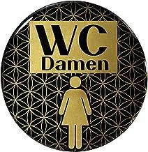 BIKE-label 900105VA Gold 3D sticker deurbord WC dames waarschuwingsbord 70 mm