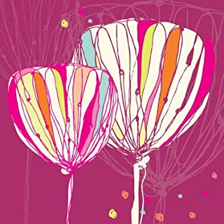 Oopsy Daisy Dotty Tulips by Rachael Taylor Posters That Stick Wall Decal, 18 by 18-Inch