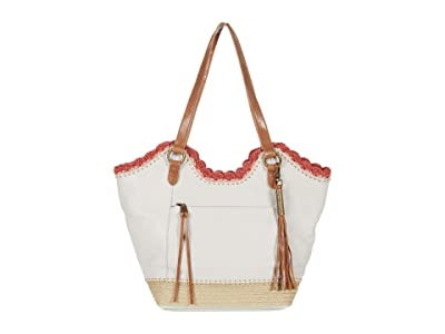 The Sak Sierra Leather Shopper (Stone Espadrille) Handbags