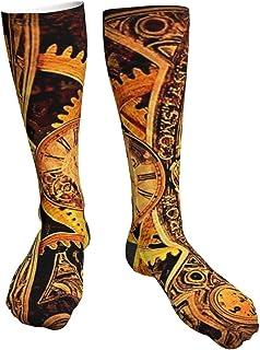 tyui7, Calcetines de compresión para mujeres y hombres Cool Steampunk Gears Calcetines gruesos de talón: lo mejor para correr, deportes atléticos, viajes en avión, embarazo, fútbol