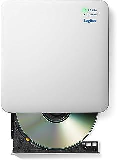 ロジテック WiFi対応 DVDドライブ スマホ/タブレット対応 5GHz対応 iOS/Android USB2.0 ホワイト LDR-PS5GWU3PWH