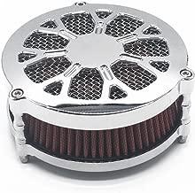 TJMOTO Chrome Air Cleaner Intaker Filter Kit For Harley Davidson EFI&Carb Dyna&Softail 2008-2016