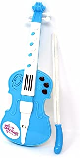 LilPals Amazing Child Prodigy Violin Toy - High Tech Musical Instrument with 12 Music Demo Sounds and Flashing Lights (Blue)