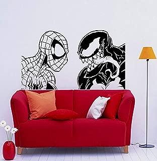 Venom Vs Spider Man Wall Decal Venom Symbiote Vinyl Sticker Comic Books Antihero Marvel Comics Hero Interior Home Decor (AA10v)