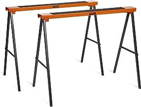 VonHaus Coppia di Cavalletti - Confezione doppia - Design pieghevole - Leggero con manici per il trasporto - Superficie di lavoro antiscivolo