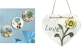 Bosphorus Hangable Balcony And Garden Ornament, Heart Pattern With Love Message
