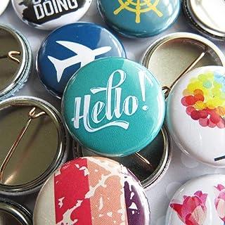 """Random Pin Back Button Pins - Bulk Resale Wholesale Lot - 1"""" (One Inch) Mini Size - 10-250 Per Unique Set"""